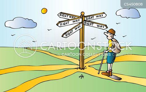 wandering cartoon