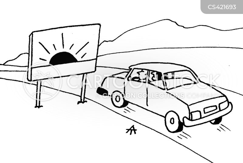 scenic view cartoon