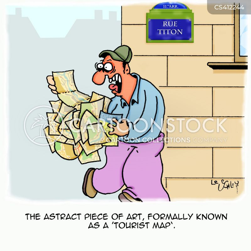 tourist map cartoon