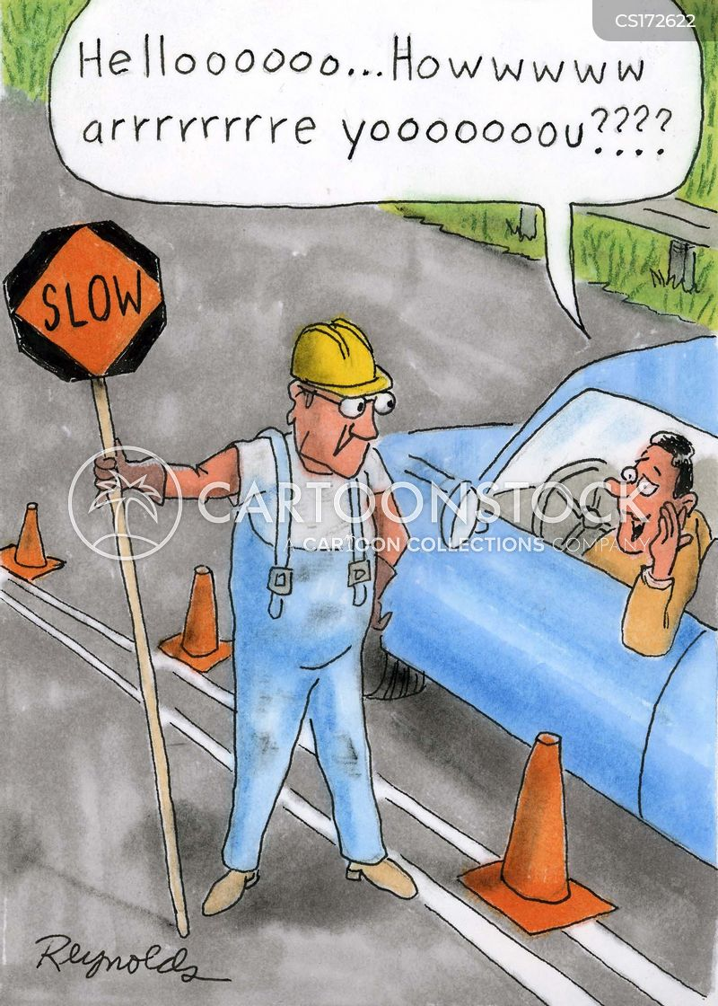 traffic controller cartoon