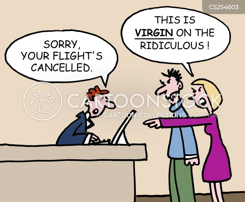cancelled flight cartoon