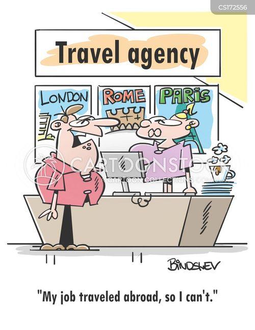 budget holidays cartoon