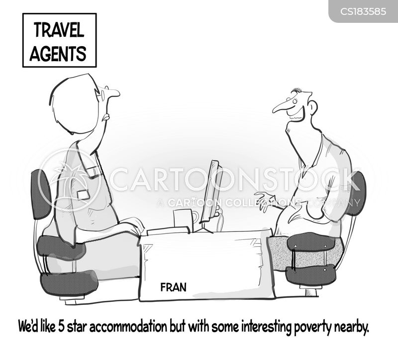 poverty tourism cartoon