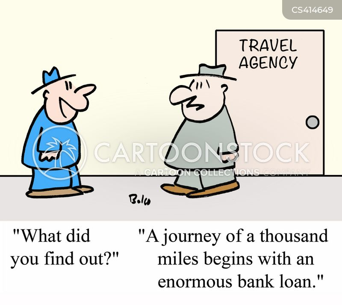 travel costs cartoon