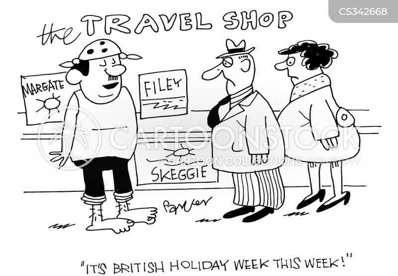 british holidays cartoon