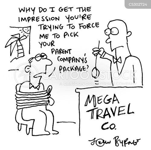 travel package cartoon