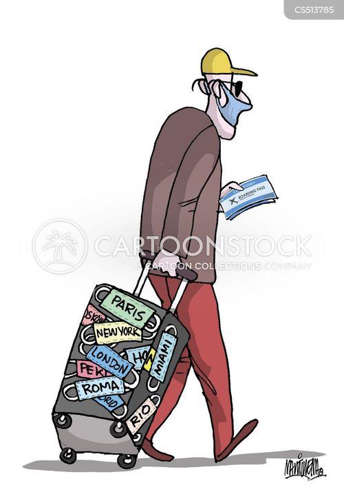 international travel cartoon