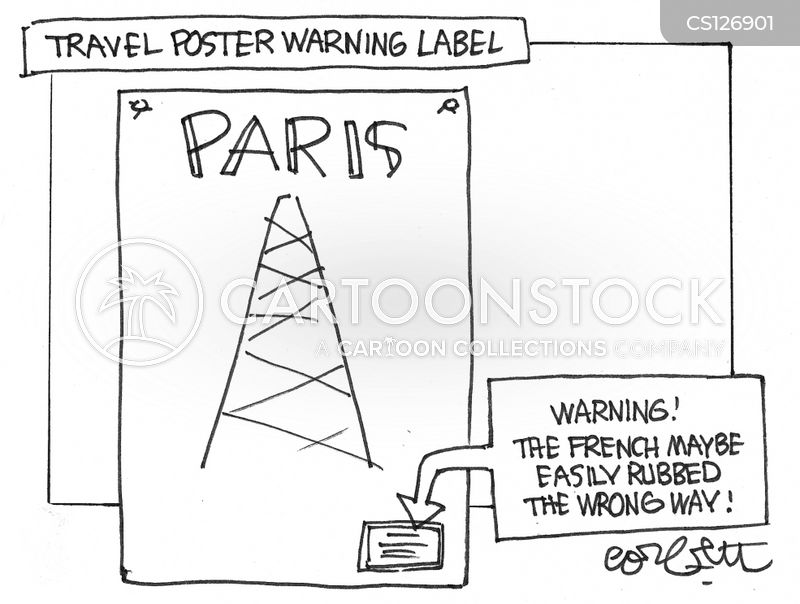 travel warnings cartoon