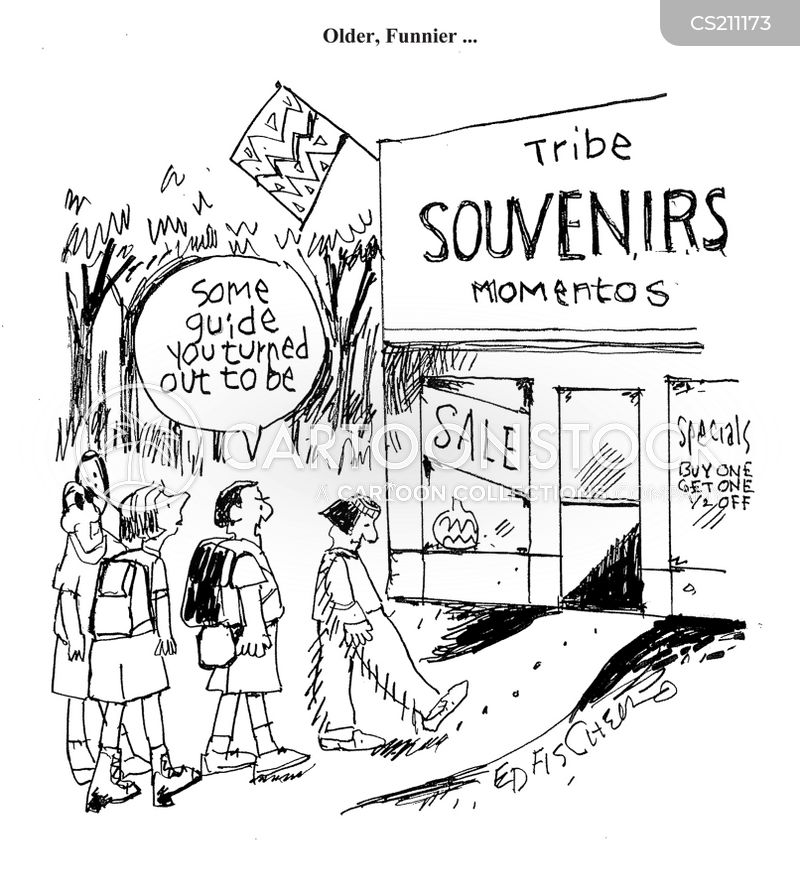 souvenir shop cartoon