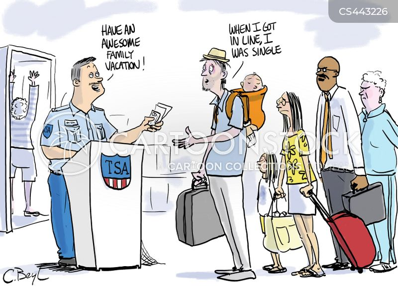 security checks cartoon
