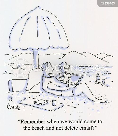 remote working cartoon