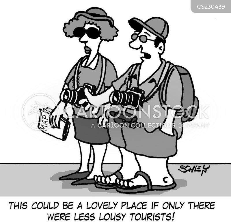 visitor attractions cartoon