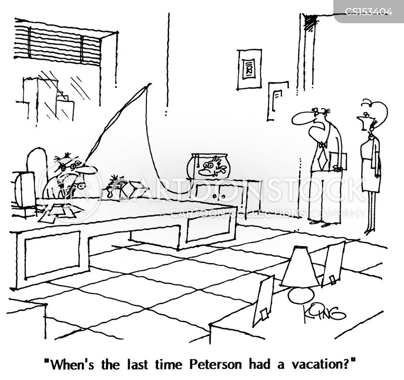 Work Vacation Cartoons Cartoon Funny Picture