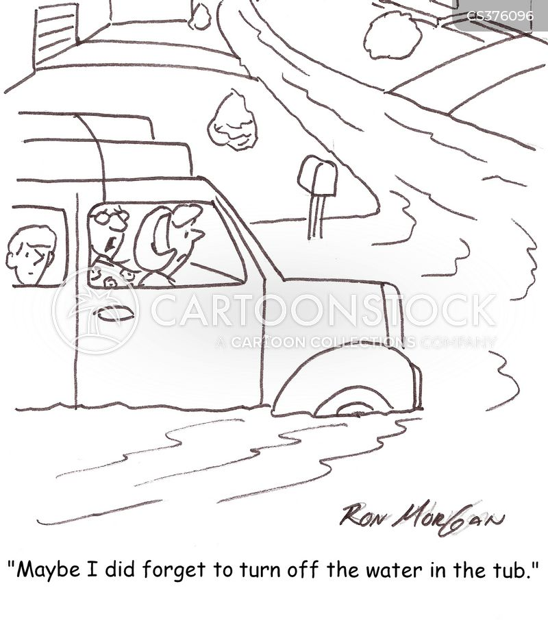burst pipes cartoon