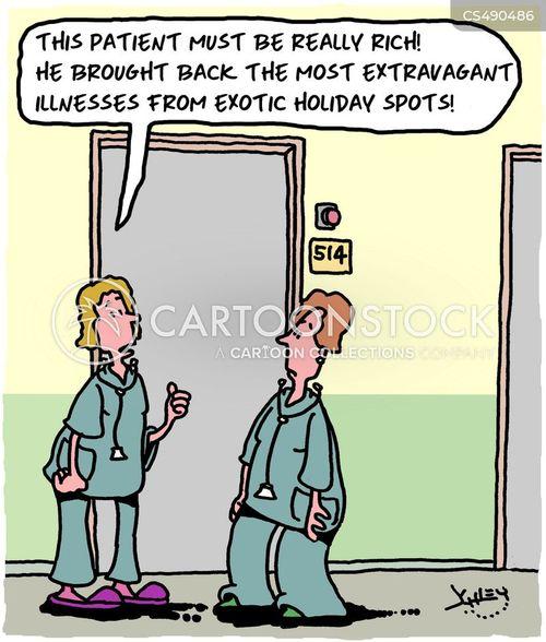 exotic vacations cartoon