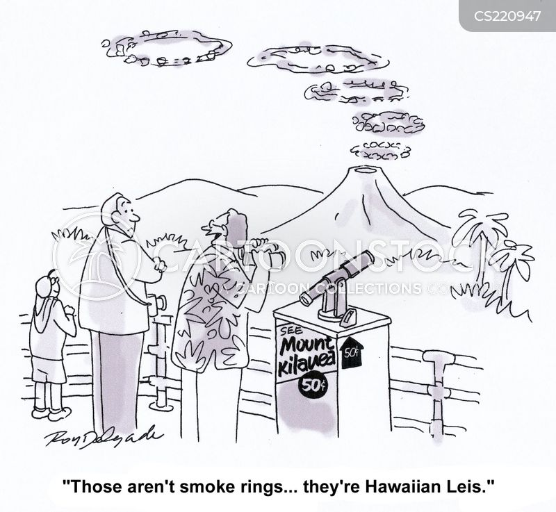 smoke ring cartoon