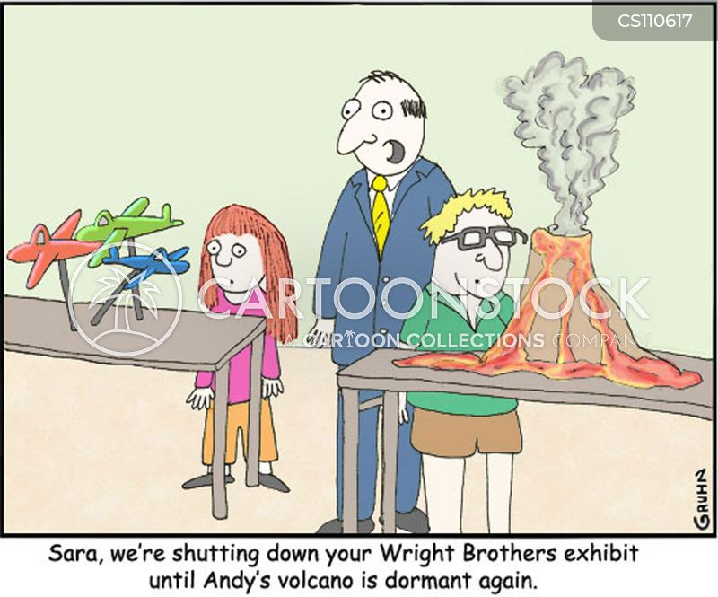 flying dangers cartoon