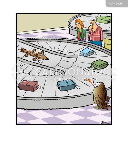 baggage carousel cartoon