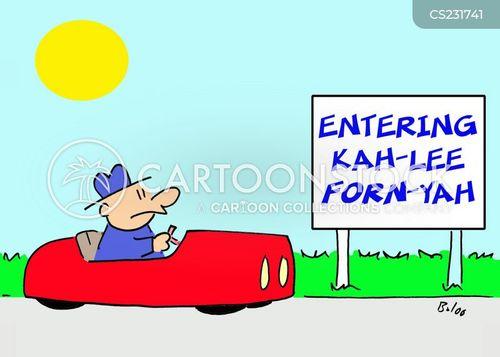 entering cartoon