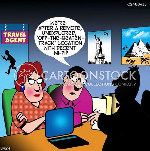wi-fi connection cartoon
