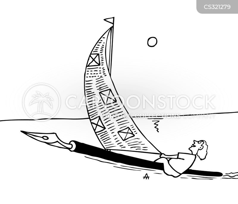 sailing trip cartoon
