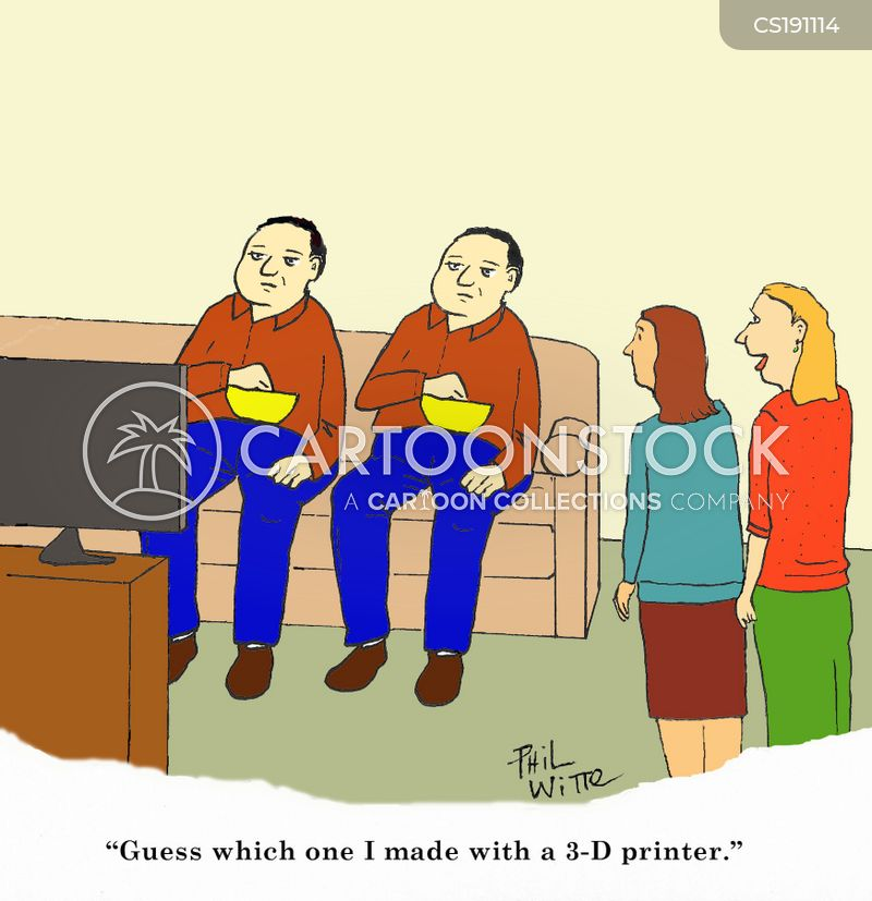 3-d printer cartoon