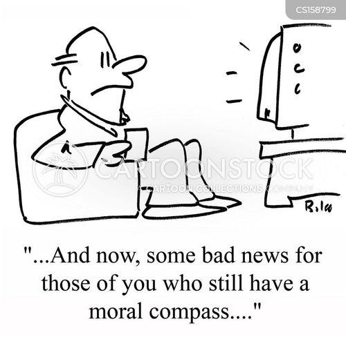 moral compasses cartoon