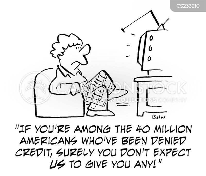 denied credit cartoon