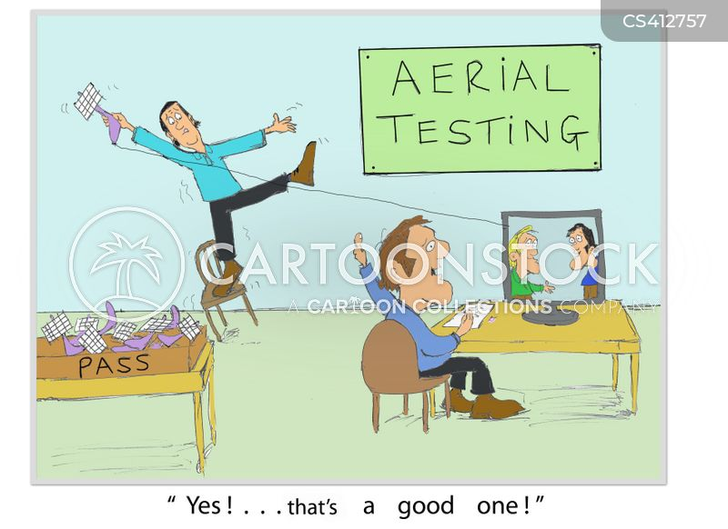 test departments cartoon