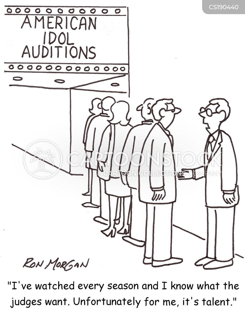 singing competition cartoon