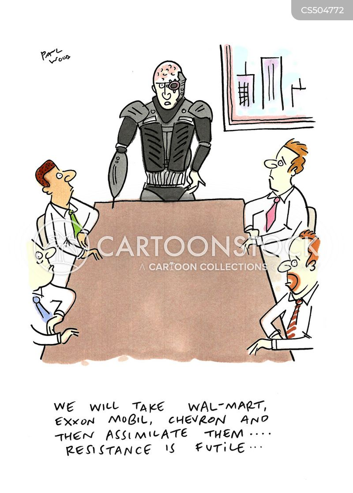 assimilating cartoon