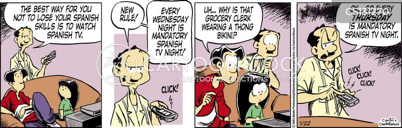 spanish skill cartoon
