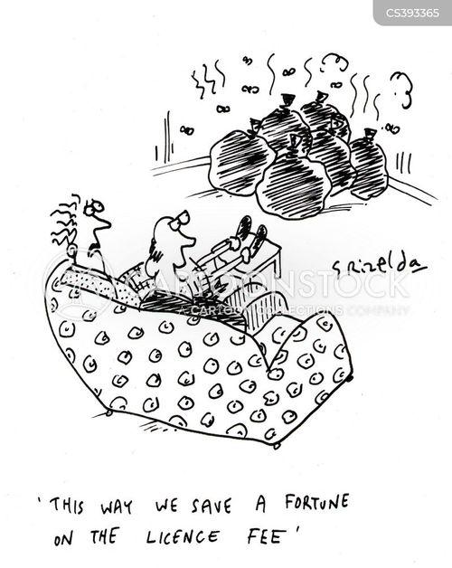 tv licenses cartoon