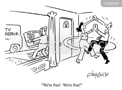 television repair men cartoon