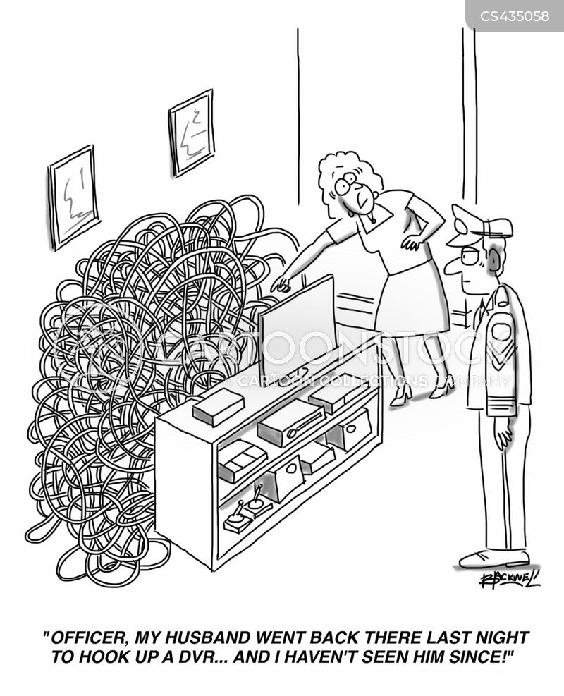 cable clutters cartoon