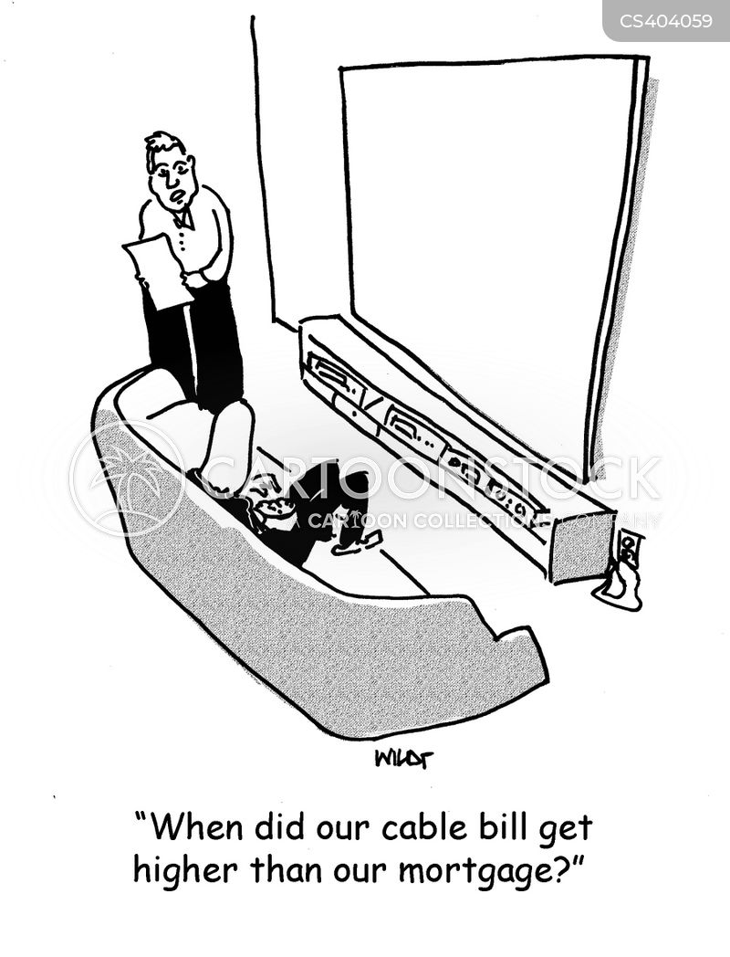 cable bill cartoon