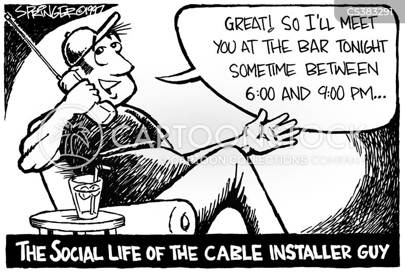 installer cartoon