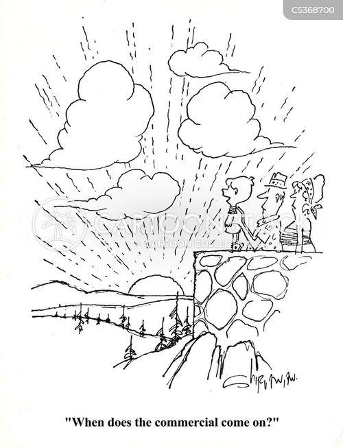 commercial breaks cartoon