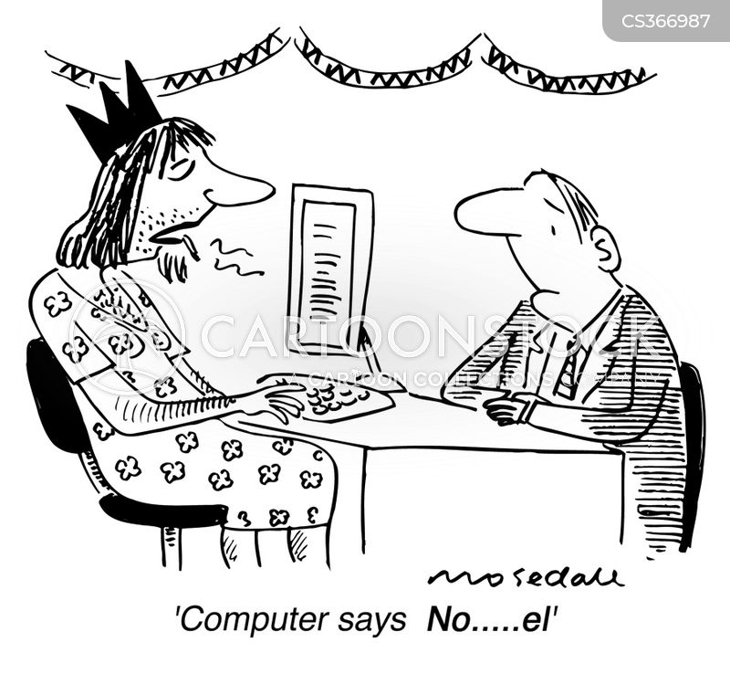 Computer Says No Cartoons and Comics - funny pictures from CartoonStock