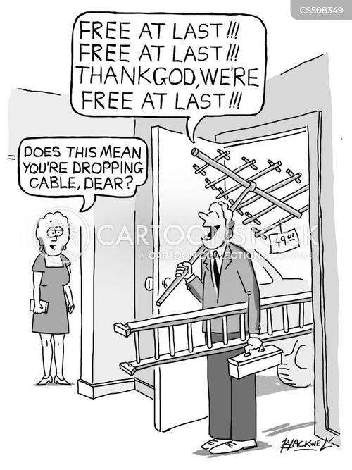 cord cutting cartoon