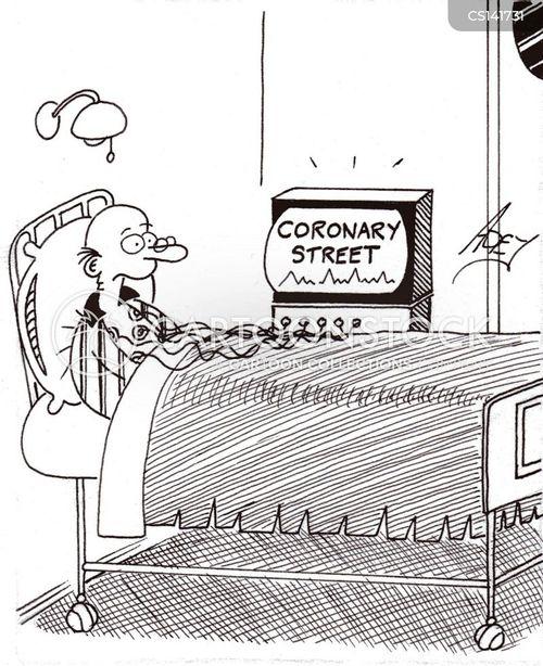 coronary cartoon