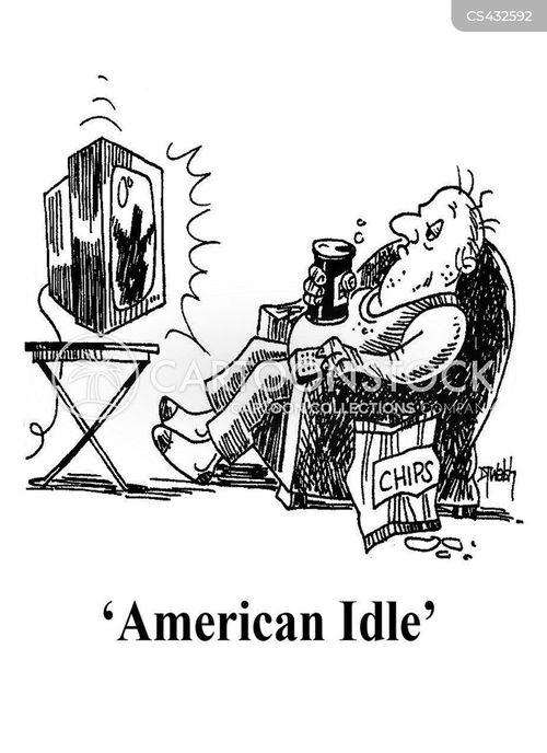 idleness cartoon