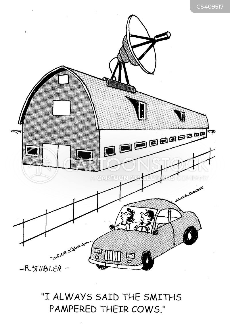 satellite televisions cartoon