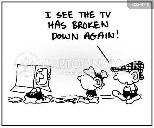 breaks down cartoon