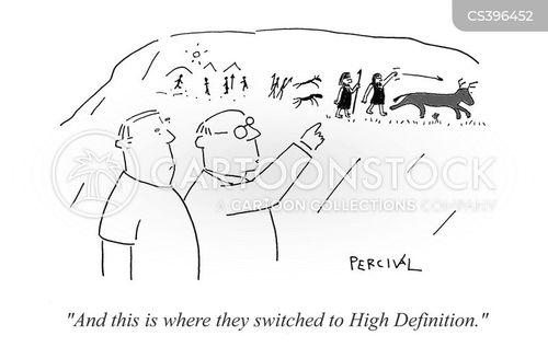 digital switch over cartoon