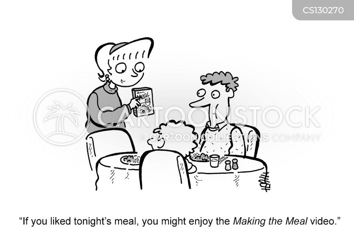 making dinner cartoon
