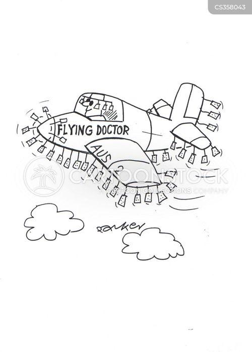 flying doctor cartoon