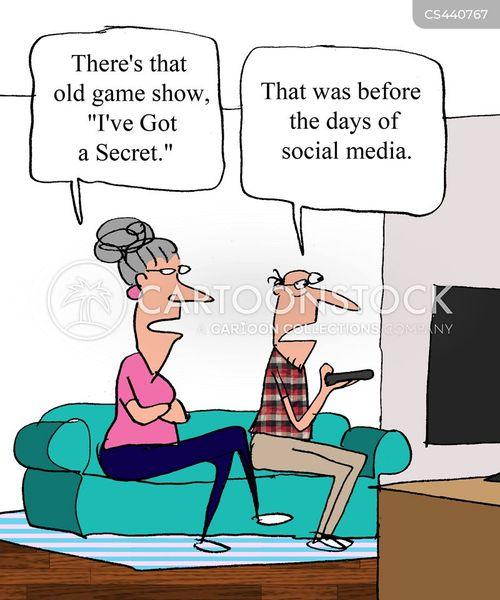 social media profiles cartoon