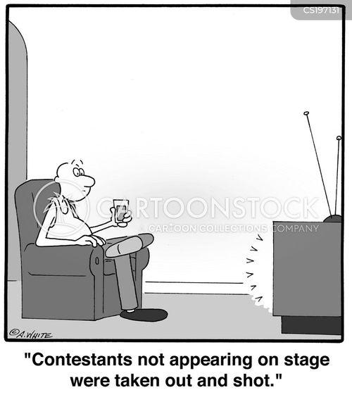 contestant cartoon