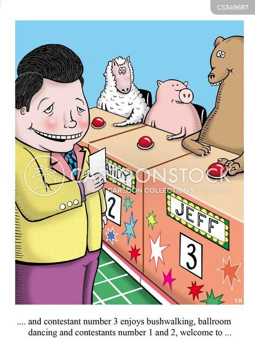 game show hosts cartoon